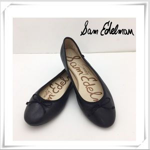 Same Edelman Society Ballet Flat Black